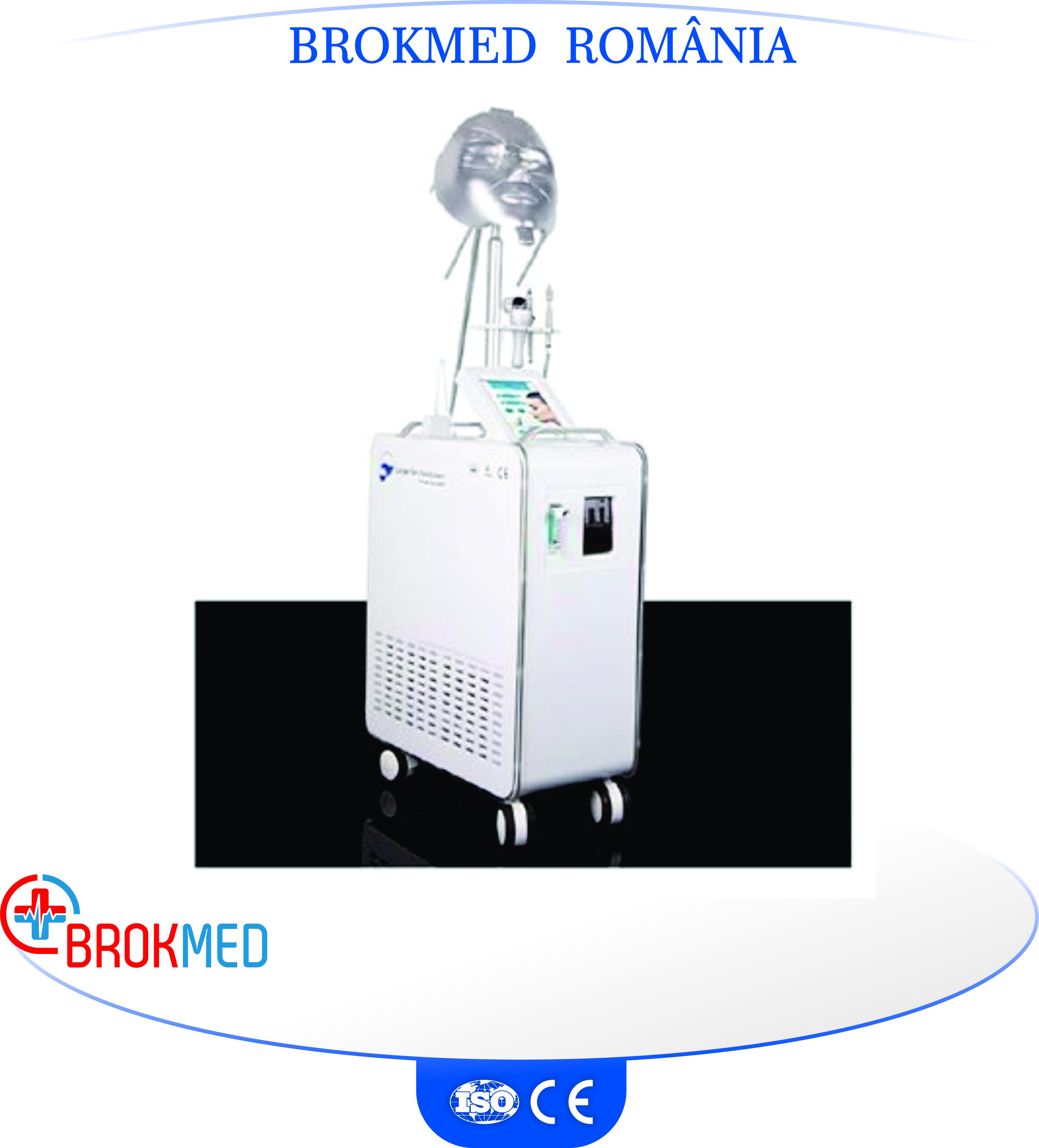 Aparat cu oxygen hyperbaric, Radiofrecventa, Microdermoabraziune si Masca Photon cu laser infrarosu pentru Rejuvenare faciala
