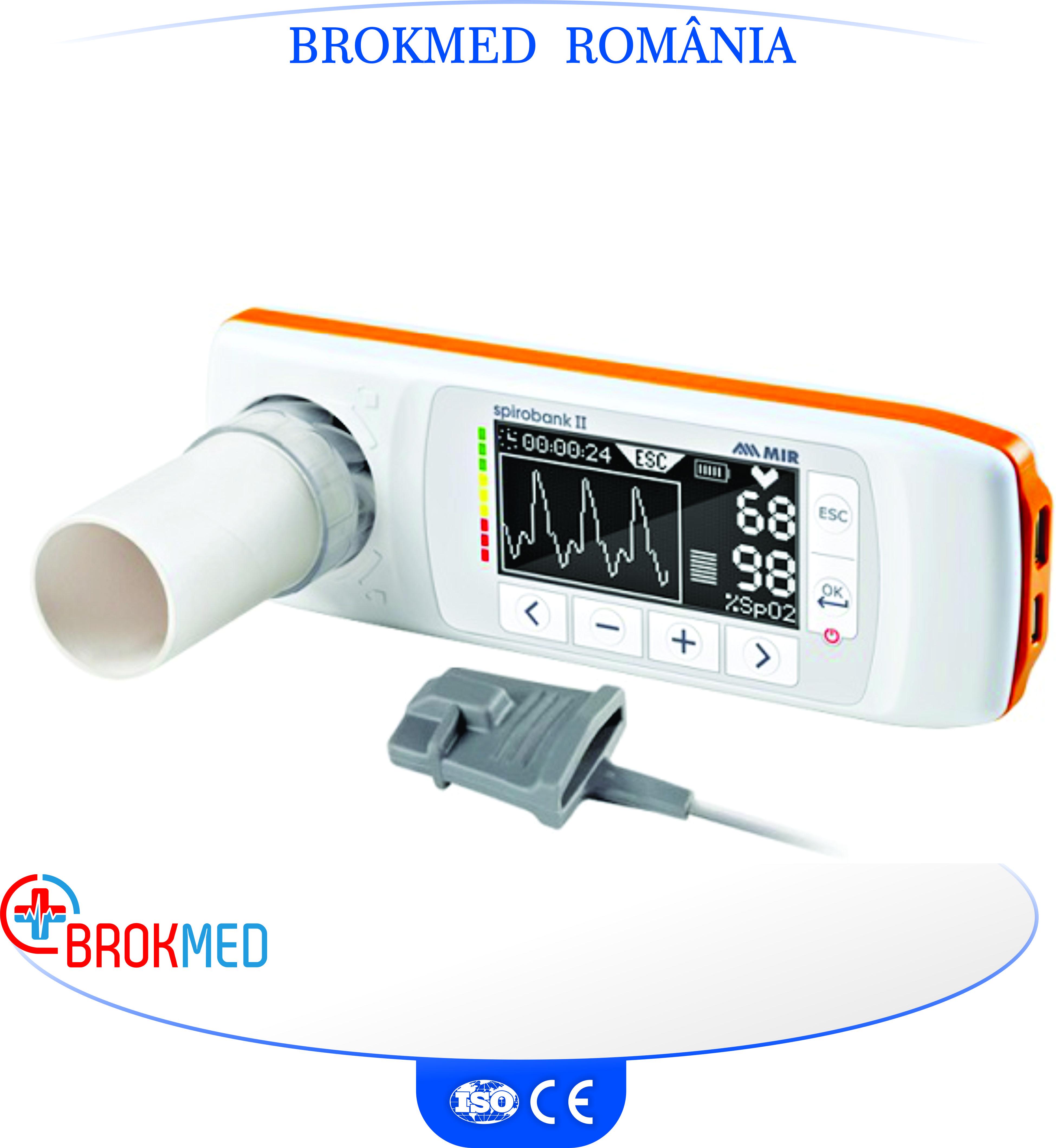 Spirometru portabil Spirobank II Smart cu turbina reutilizabila